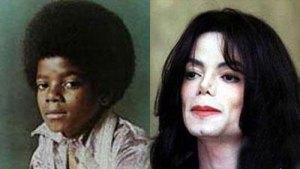 Michael em criança e a sua imagem mais actual