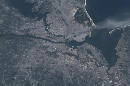 11 de setembro visto do espaço